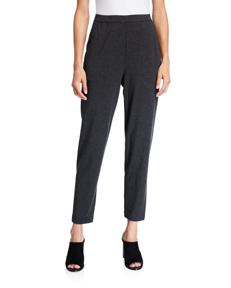 Eileen Fisher Plus Size Slouchy Jersey Ankle Pants