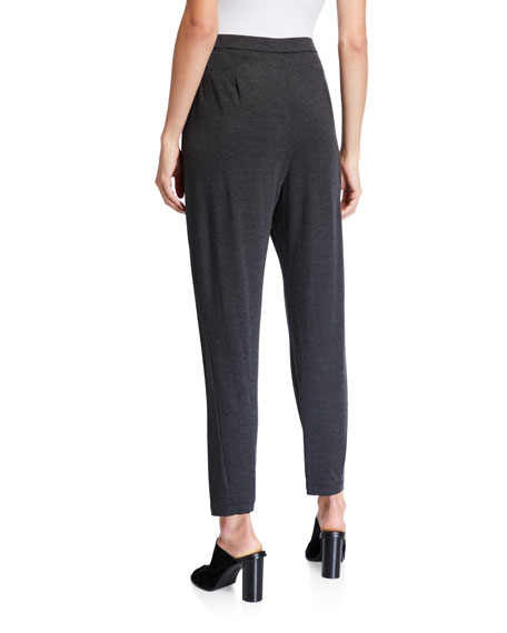 Eileen Fisher Petite Slouchy Jersey Ankle Pants
