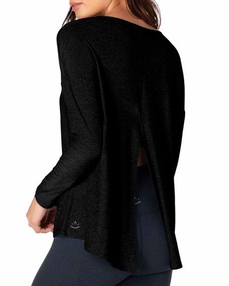 Beyond Yoga Draw The Line Tie-Back Long-Sleeve Top