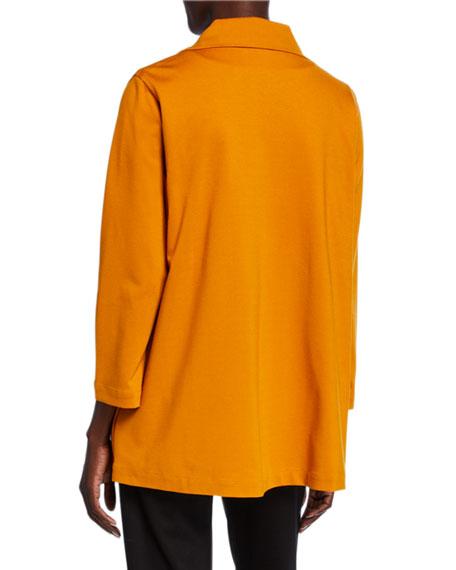 Caroline Rose Petite Ponte Luxe Zip-Front Jacket