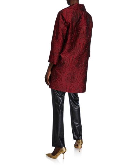 Caroline Rose Plus Size Rose Cloque Party Jacket