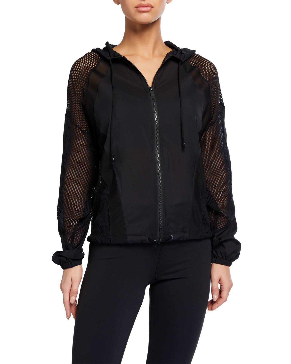 Feature Hooded Mesh Jacket by Alo Yoga
