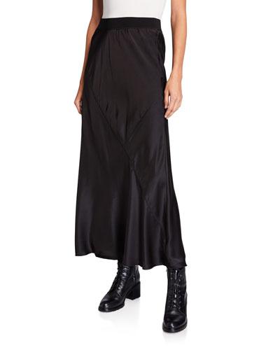 Silk Ankle-Length Skirt
