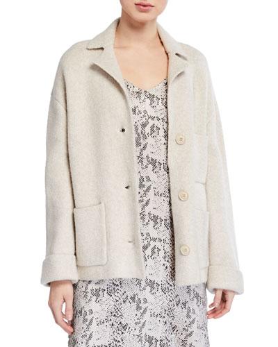 Novelty Blend Sweater Jacket