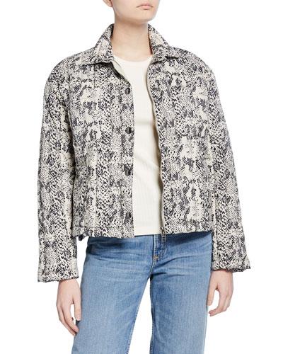 Down-Fill Boxy Puffer Jacket