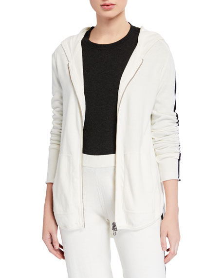 ATM Anthony Thomas Melillo Cashmere-Blend Zip-Up Hoodie