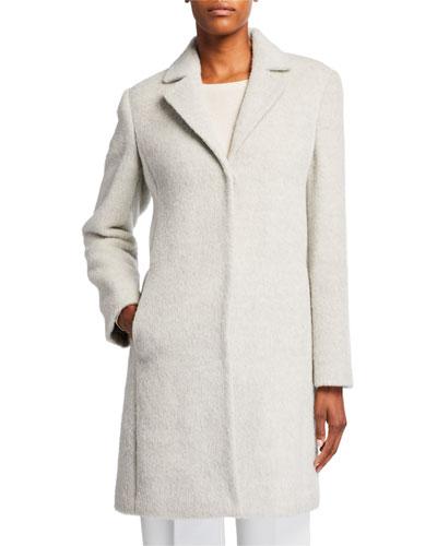 Undyed Alpaca Plush Coat