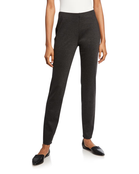 Eileen Fisher Melange Ponte Slim Pants