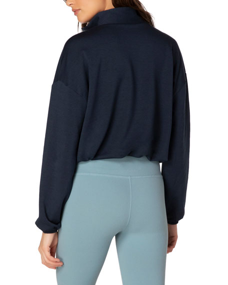 Beyond Yoga By Request Cropped Half-Zip Pullover