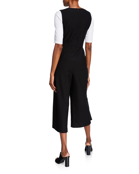 Eileen Fisher Plus Size Cropped Ponte Tank Jumpsuit
