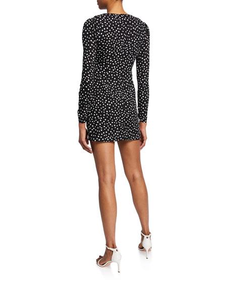 Likely Corinne Dot-Print Ruffle Short Dress
