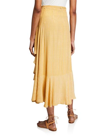 Faithfull the Brand Jasper Printed Wrap Midi Skirt