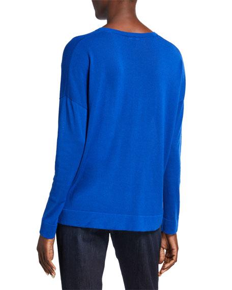 Eileen Fisher Petite V-Neck Long-Sleeve Sweater