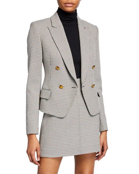 A.L.C. Hendrick Double-Breasted Check Jacket