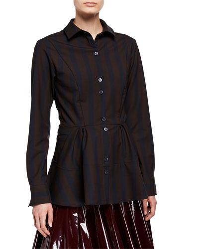 April Striped Button-Down Shirt