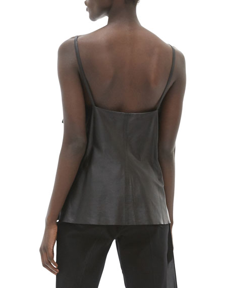 Image 2 of 3: Helmut Lang Leather Slip Top