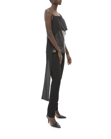 Image 3 of 3: Helmut Lang Leather Slip Top