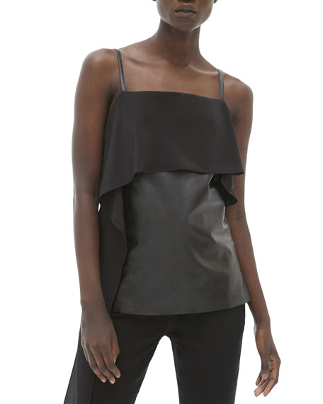 Image 1 of 3: Helmut Lang Leather Slip Top