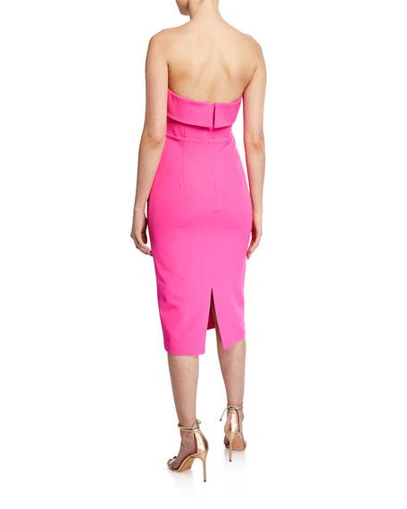 Bardot Georgia Strapless Fold-Over Cocktail Dress