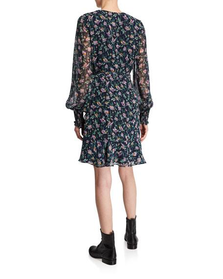 Bardot Miley Floral-Print Short Flounce Dress