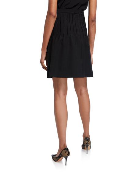 REDValentino Pleated Cady Tech Skirt