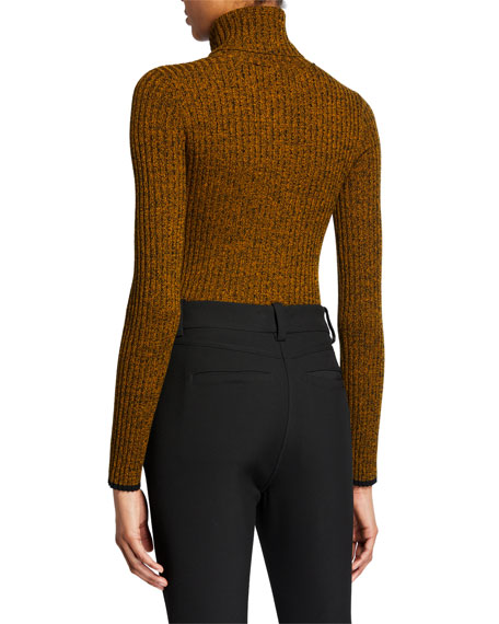 Image 2 of 3: A.L.C. Carey Marled Turtleneck Top