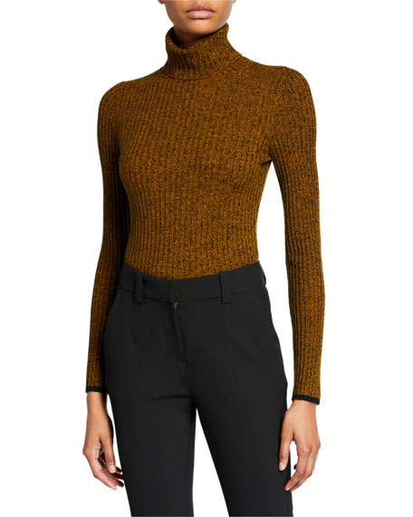 Image 1 of 3: A.L.C. Carey Marled Turtleneck Top