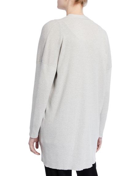 Eileen Fisher Petite Organic Cotton/Silk V-Neck Boyfriend Cardigan