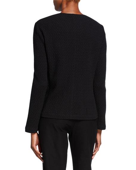 Eileen Fisher Chevron Zip-Front Jacket