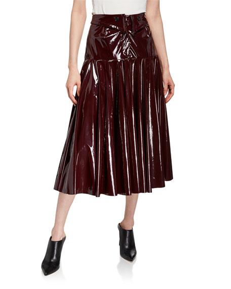palmer//harding Fused Shiny Patent Midi Skirt