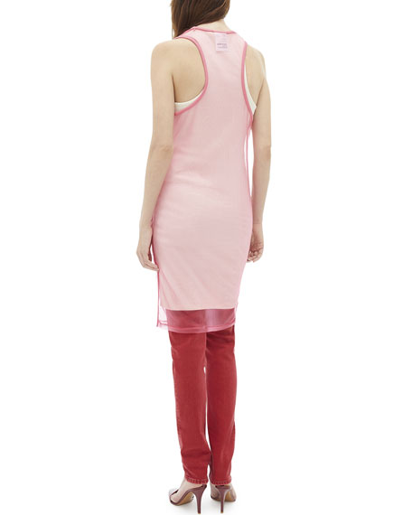 Helmut Lang Masc Sheer Layered Tank Dress
