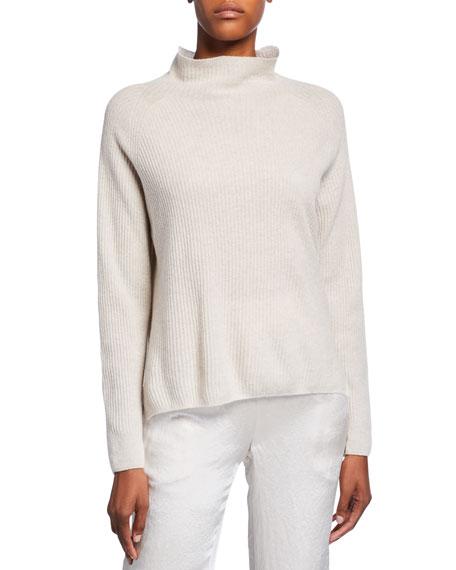 Max Mara Leisure Funnel-Neck Wool-Blend Rib Sweater