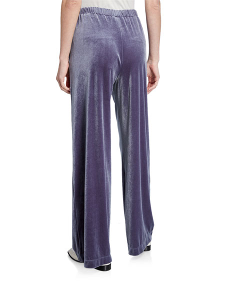 Max Mara Leisure Velvet Full-Leg Pull-On Pants