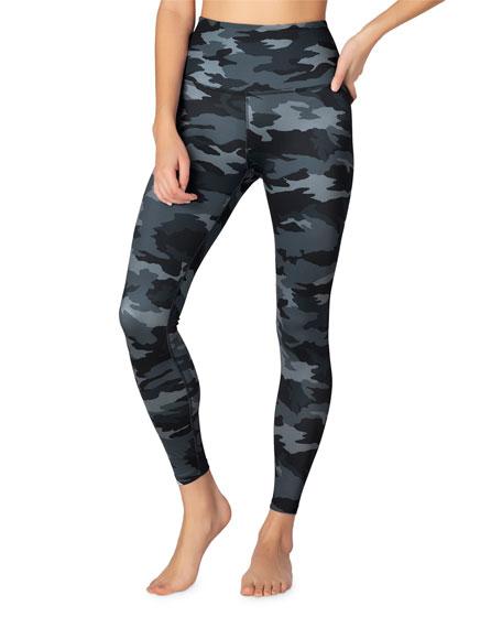 Beyond Yoga Lux Printed High-Waist Midi Leggings