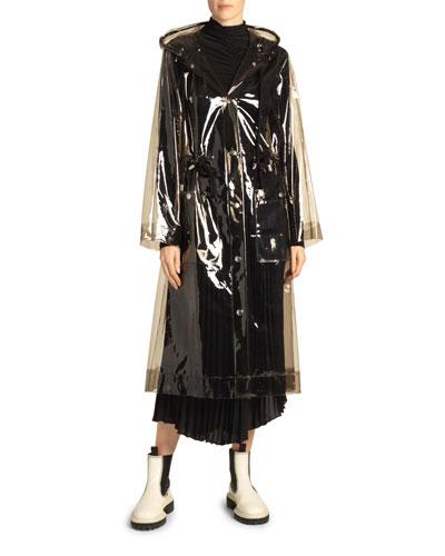 Hooded Transparent Raincoat