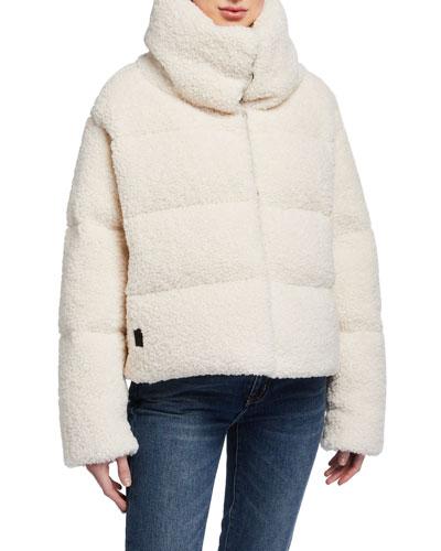 Reversible Faux Fur Down Coat