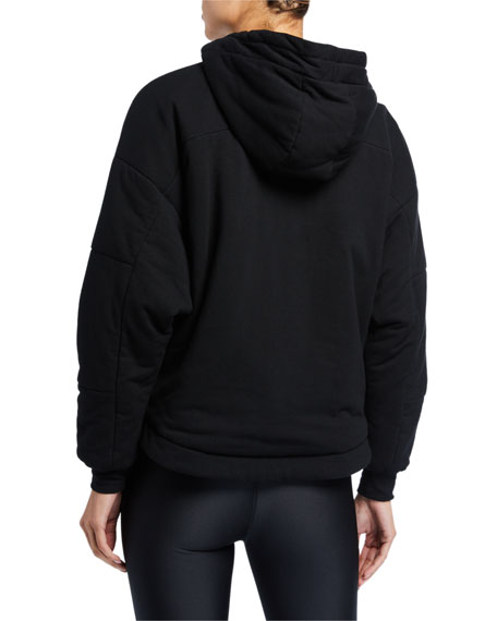 Image 2 of 2: Blanc Noir Thin Down Pullover Hoodie