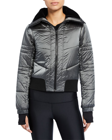 Image 2 of 3: Blanc Noir Bella Cropped Puffer Jacket