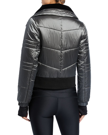 Image 3 of 3: Blanc Noir Bella Cropped Puffer Jacket