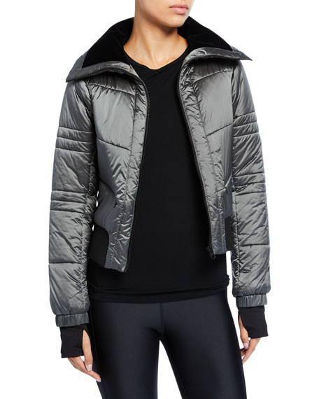 Image 1 of 3: Blanc Noir Bella Cropped Puffer Jacket