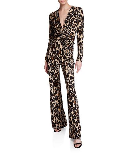 Melinda Leopard-Print Jumpsuit