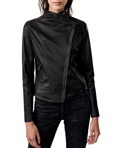 Mackage Dinah Lamb Leather Moto Jacket