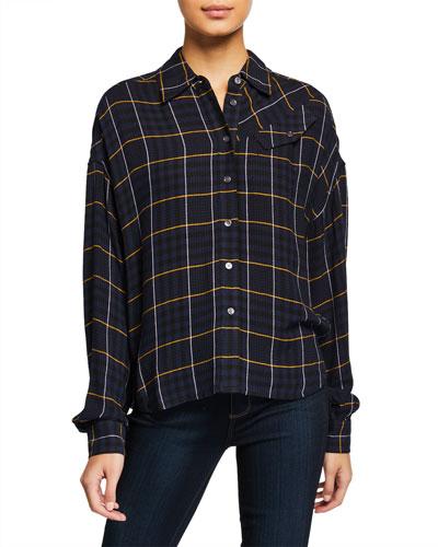 Plaid Button-Down Long-Sleeve Shirt