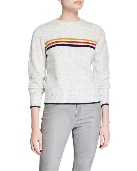 Cupcakes and Cashmere Mikayla Striped Crewneck Sweater