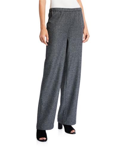 Broken Twill Wool Flannel Ankle Pants
