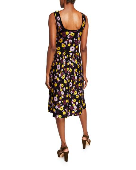 kate spade new york floral jacquard sleeveless sweater dress