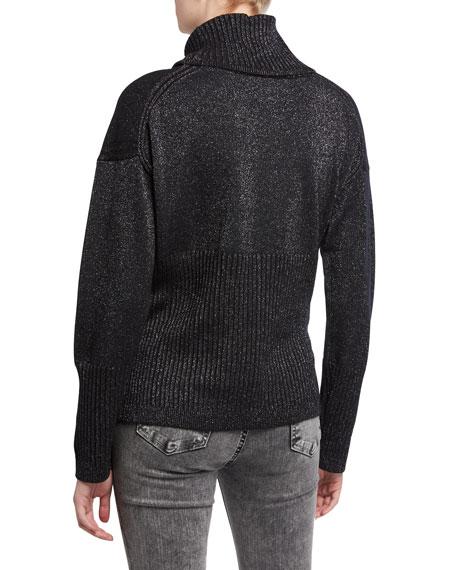 Derek Lam 10 Crosby Bond Metallic Turtleneck Sweater