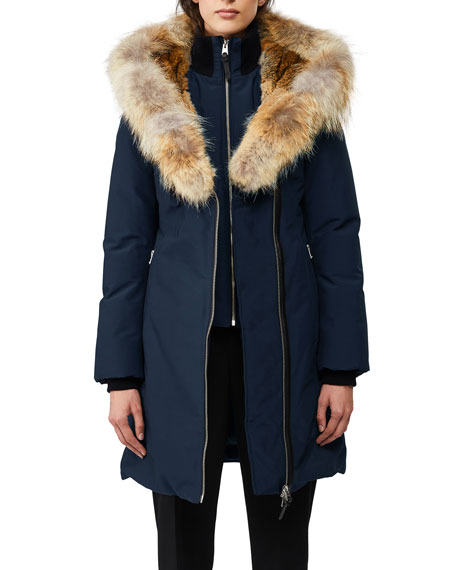 Mackage Trish Fur-Hood Bib-Underlay Coat