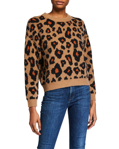 Tobin Leopard-Print Sweater