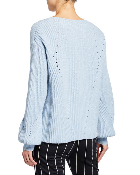Image 2 of 2: Derek Lam 10 Crosby Ribbed V-Neck Sweater